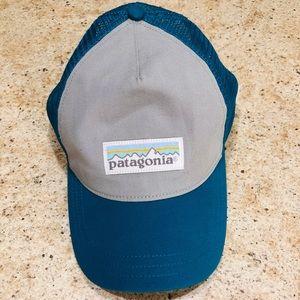 Patagonia Teal Gray Mesh SnapBack Hat Trucker